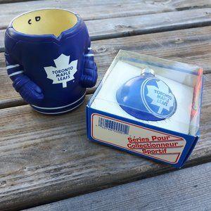 Vintage Toronto Maple Leafs Bulb Ornament + Koozie